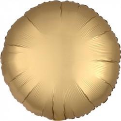 Palloncino tondo in foil satinato Oro diametro 45 cm