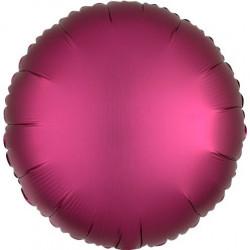 Palloncino tondo in foil satinato rosso diametro 45 cm