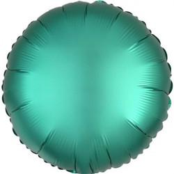 Palloncino tondo in foil satinato verde diametro 45 cm