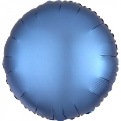 Palloncino tondo in foil satinato blu diametro 45 cm