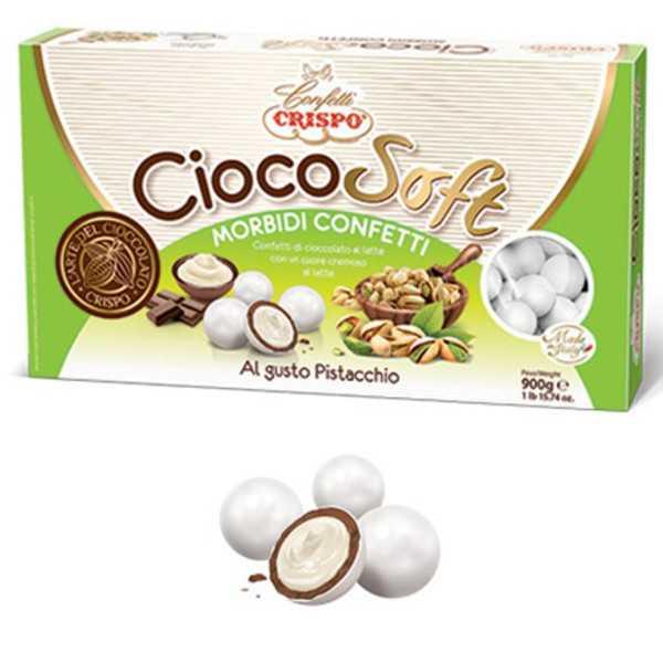 CiocoSoft Pistacchio Crispo Confetti di Cioccolato Cremoso 900 g