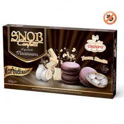 500 g Confetti Snob Macaroons al Cioccolato Cioco-mandorla Bianchi Crispo