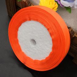 Nastro Doppio Raso Arancione Fluo 20mmx18mt