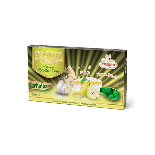 500 gr Confetti Snob Ricotta e Pera color Verde