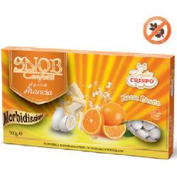confetti snob ciocomandorla bianchi al gusto di Arancia da 500 g Crispo