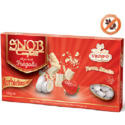 confetti snob ciocomandorla bianchi al gusto di Fragola da 500 g Crispo