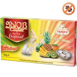 confetti snob ciocomandorla bianchi al gusto Frutta Tropicale da 500 g Crispo