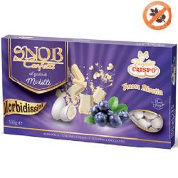 confetti snob ciocomandorla bianchi al gusto Mirtilli da 500 g Crispo