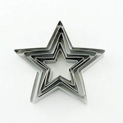 Set 5 Tagliapasta Stella in metallo a 5 punte