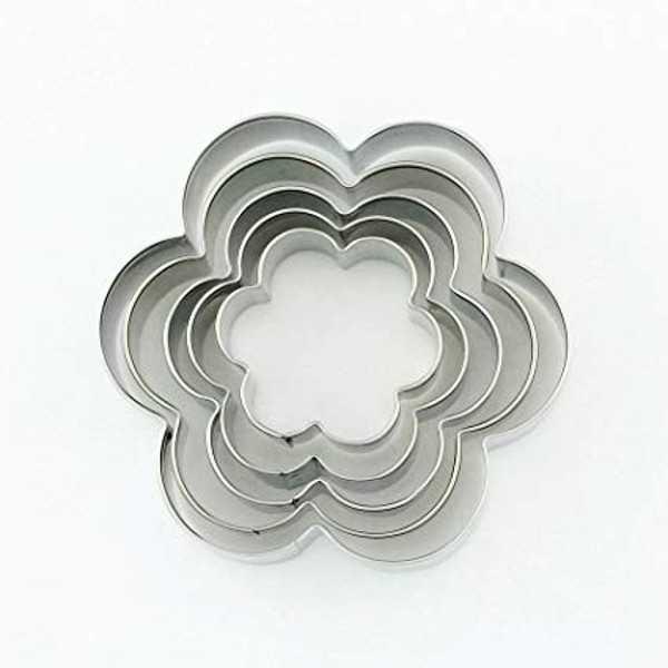 Set 5 Tagliapasta a forma di Fiori in metallo