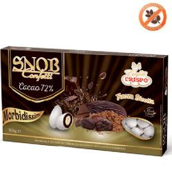 500 g Confetti Snob con Cacao al 72% bianchi di crispo