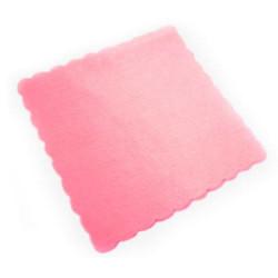 Velo Tulle Orlato Quadrato Rosa Antico 50 pezzi