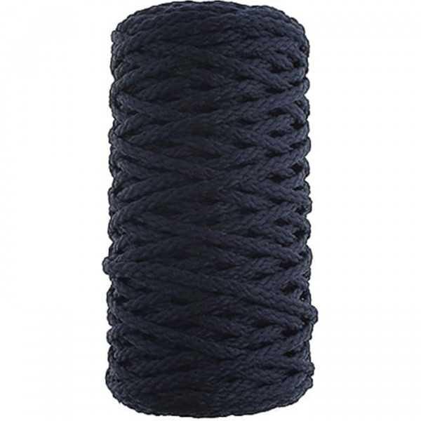 Cordino intrecciato in cotone da 2 mm per 50 m colore blu notte su rocca