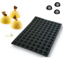 Stampo Sessantaquaranta mini semisfere SQ015 in silicone da Silikomart diametro 35 mm