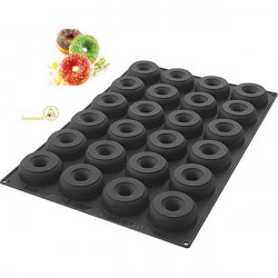 Stampo Sessantaquaranta ciambelle grandi o donuts grandi SQ059 in silicone da Silikomart diametro 85 mm