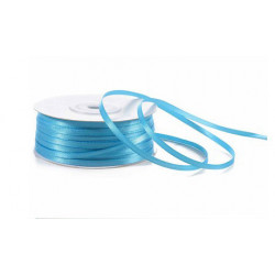Nastro Doppio Raso Blu Turchese 3mmx50mt