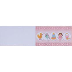 5 bigliettini per bomboniere stampabili Compleanno Nascita Battesimo Tema Giochi Rosa