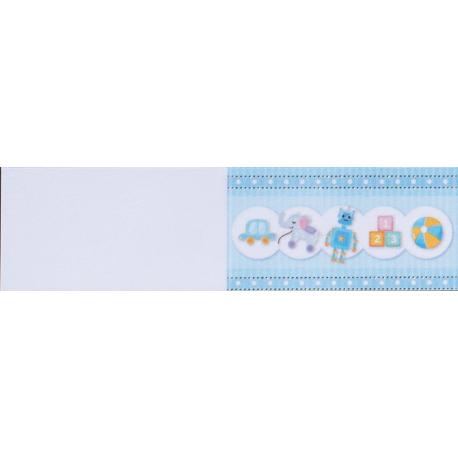 5 bigliettini per bomboniere stampabili Compleanno Nascita Battesimo Tema Giochi Celeste