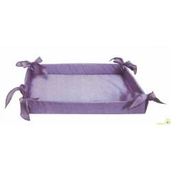 Cesto Bomboniere in tessuto lilla 36 cm x 27 cm