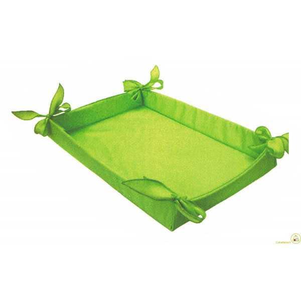 Cesto Bomboniere in tessuto verde 36 cm x 27 cm