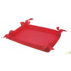 Cesto Bomboniere in tessuto rosso 36 cm x 27 cm