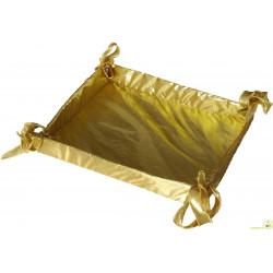 Cesto Bomboniere in tessuto oro 36 cm x 27 cm