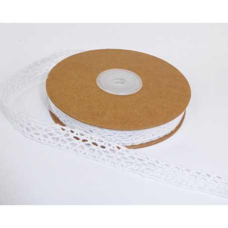 Nastro Passamaneria Pizzo Cotone 13 mm x 10 m Bianco