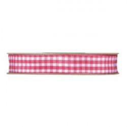Nastro a quadretti rosso e bianco 10 mm x 25 m doppia faccia effetto tessuto vichy