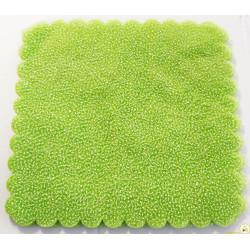 50 Velo Fata in Tulle Orlato Quadrato a Pois Puntinato Verde