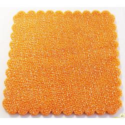 50 Velo Fata in Tulle Orlato Quadrato a Pois Puntinato Arancione