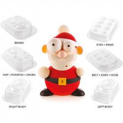Stampo Cioccolato Babbo Natale O Kit Santa 3D Termoformato