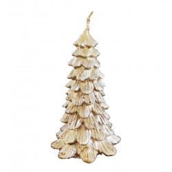 Candela albero di natale color neve oro