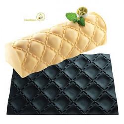 Tappeto Silicone Professionale per Torte Tronchetto Matelassè o Materasso da Silikomart