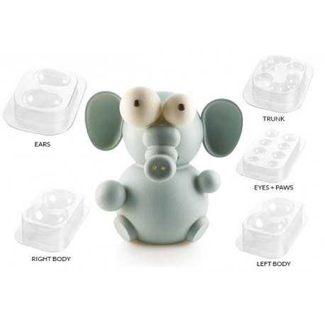 Stampo Cioccolato Elefantino o Kit Effy 3D Termo-formato da Silikomart
