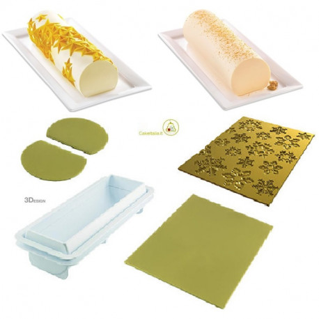 Kit Stampo Frozen Buche o Tronchetto Ghiacciato da silikomart
