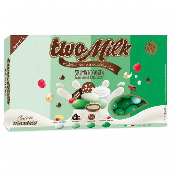 Confetti Two Milk  Sfumato Verde, il doppio cioccolato da 1kg  di Maxtris