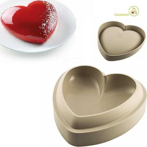 Stampo Batticuore a forma di cuore in silicone ad Silikart