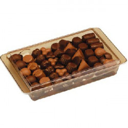 Cioccolatini nudi ripieni assortiti in vaschetta da 920 g