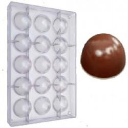 Stampo cioccolatini cuneese da 20 g e diametro 3,7 cm in policarbonato