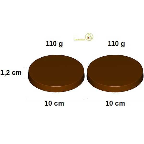 Stampo Cioccolato Tortina da 10 cm 110 g in policarbonato