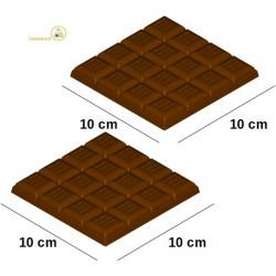 Stampo Tavoletta cioccolato blocchetti onda da 10 cm 100 g