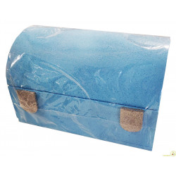 Bauletto in Polistirolo Azzurro glitter 30x20x18cm