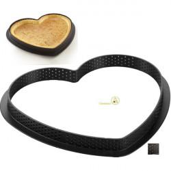 Stampo ad Anello per Crostate e Torte a Cuore o Tarte Ring Amore da 205 mm x...