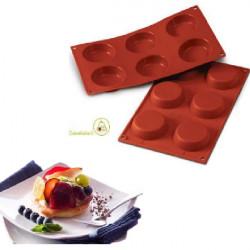 Stampo in silicone Flan per 6 tortine dal diametro di 7 cm di Silikomart