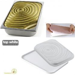 Kit Drop Gel stampi silicone per decorazione e inserti vaschette gelato variegato da Silikomart
