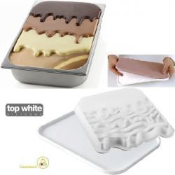 Kit Choco Gel stampi silicone per decorazione e inserti vaschette gelato variegato da Silikomart