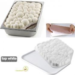 Kit Bubble Gel stampi silicone per decorazione e inserti vaschette gelato variegato da Silikomart
