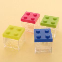 Portaconfetti mattoncino Lego colori assortiti 5x5x5cm