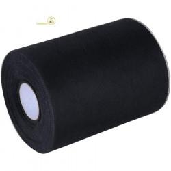 Bobina o rotolo in tulle effetto organza da 12,5 cm x 50 m colore Nero