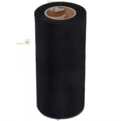 Bobina o rotolo in tulle effetto organza da 24,5 cm x 50 m colore Nero